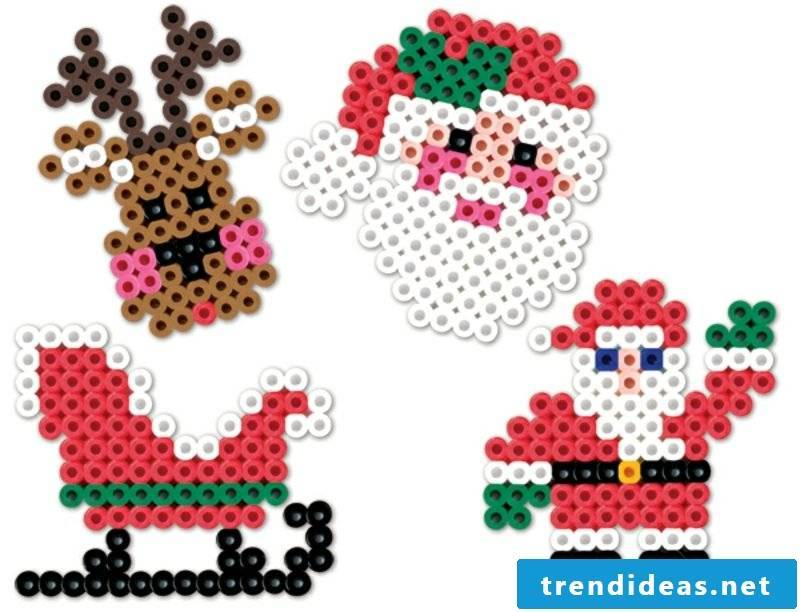 Iron-on beads templates Christmas Santa Claus reindeer