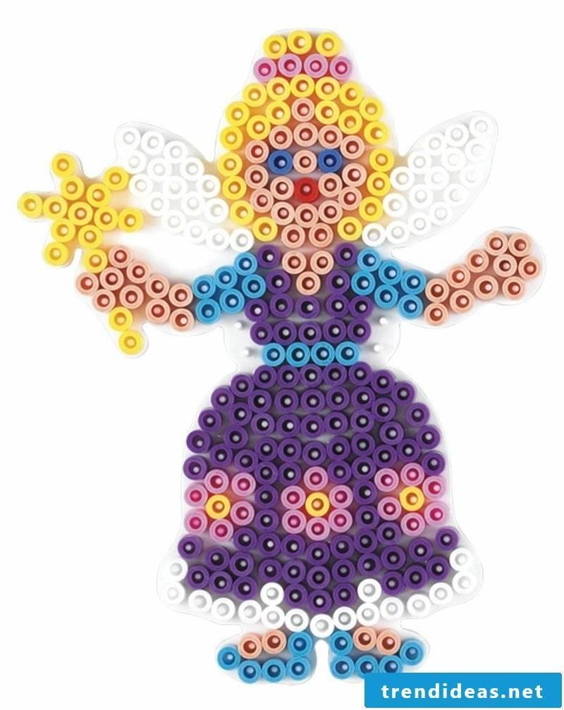 Iron-on beads templates Christmas fairy