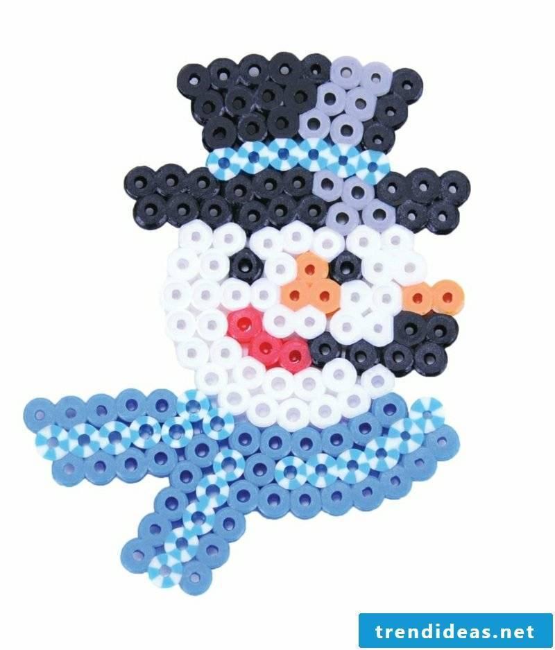 Iron-on beads templates Christmas snowman
