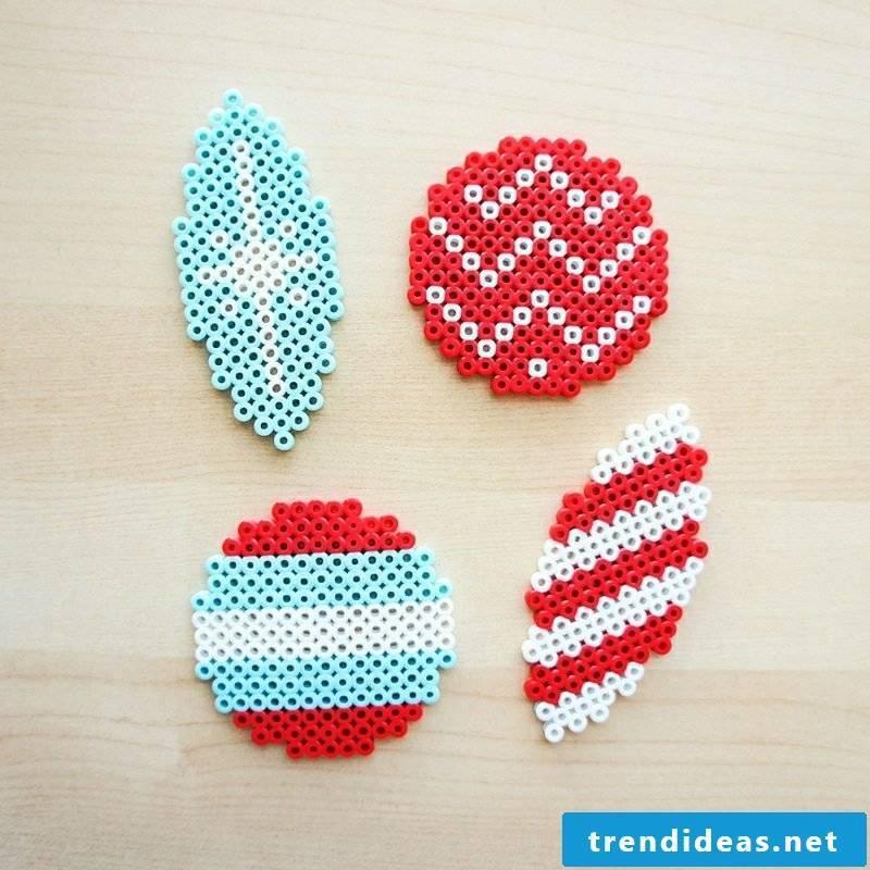 Iron-on beads templates Christmas Christmas tree decorations