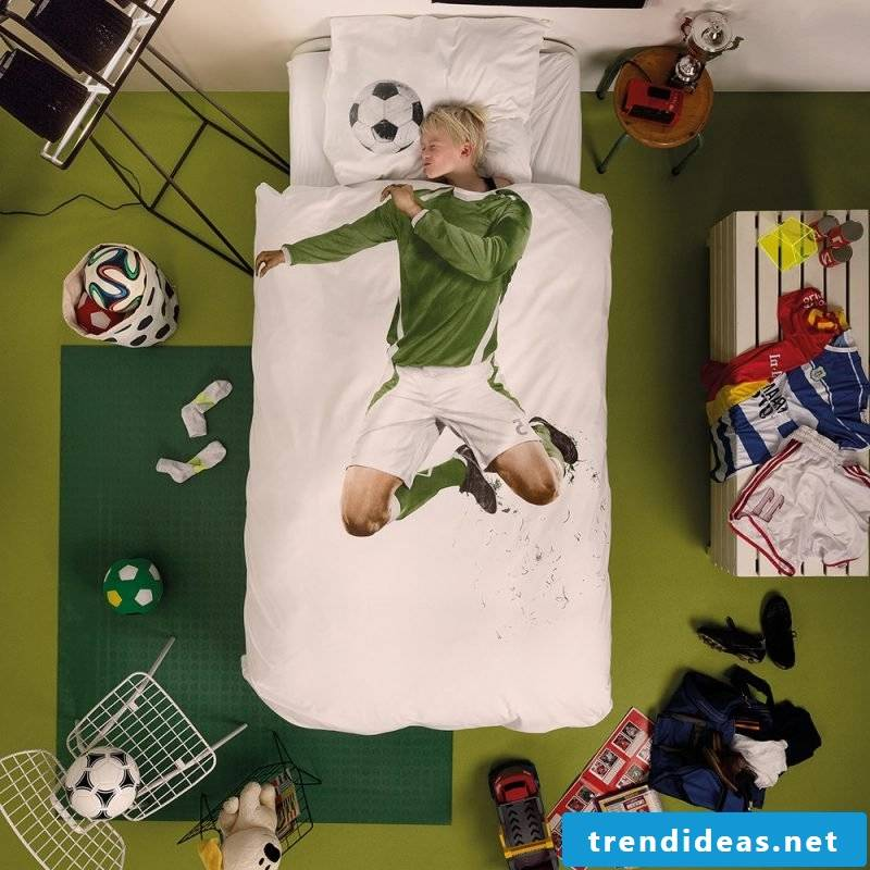 Interesting idea with football for cool bedding