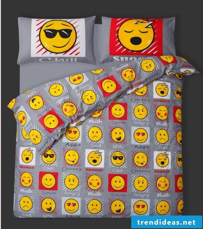 Cool bedding reminds teenagers of beautiful moments
