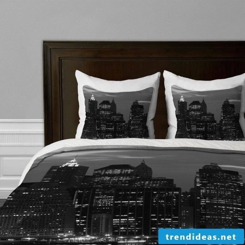 Cool bedding in black has become a trend
