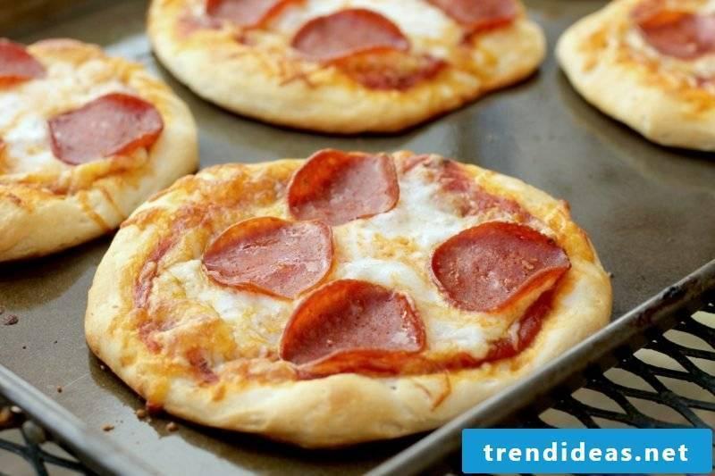 Kids birthday snacks mini pizzas