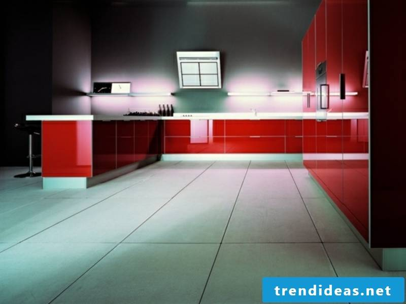 red kitchen lighting