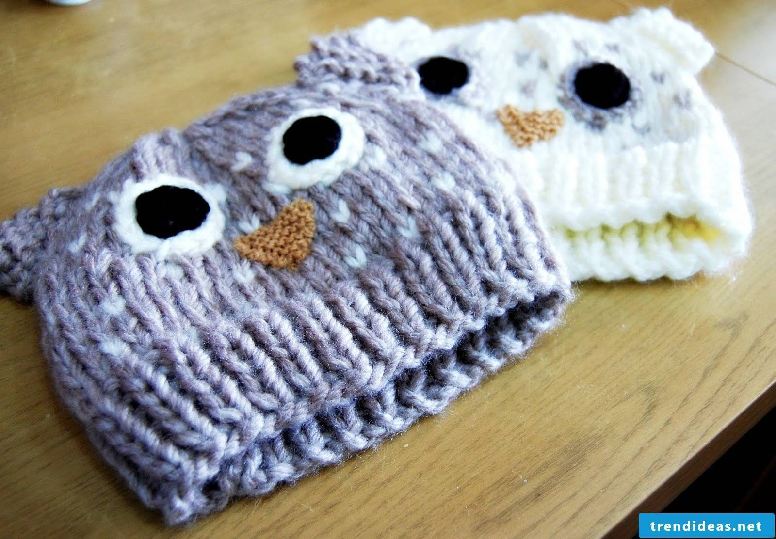 Sweet owls to knit by yourself