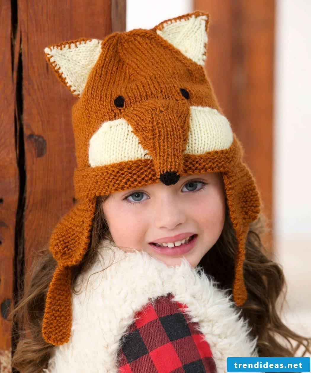 Fox hat for children