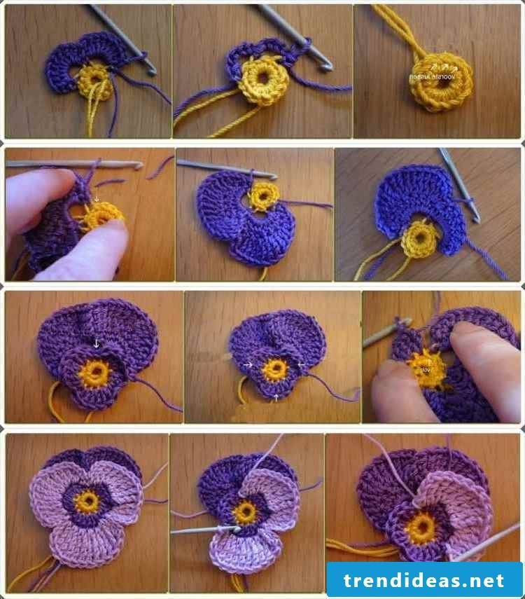 Flowers for decoration of hats and scarves