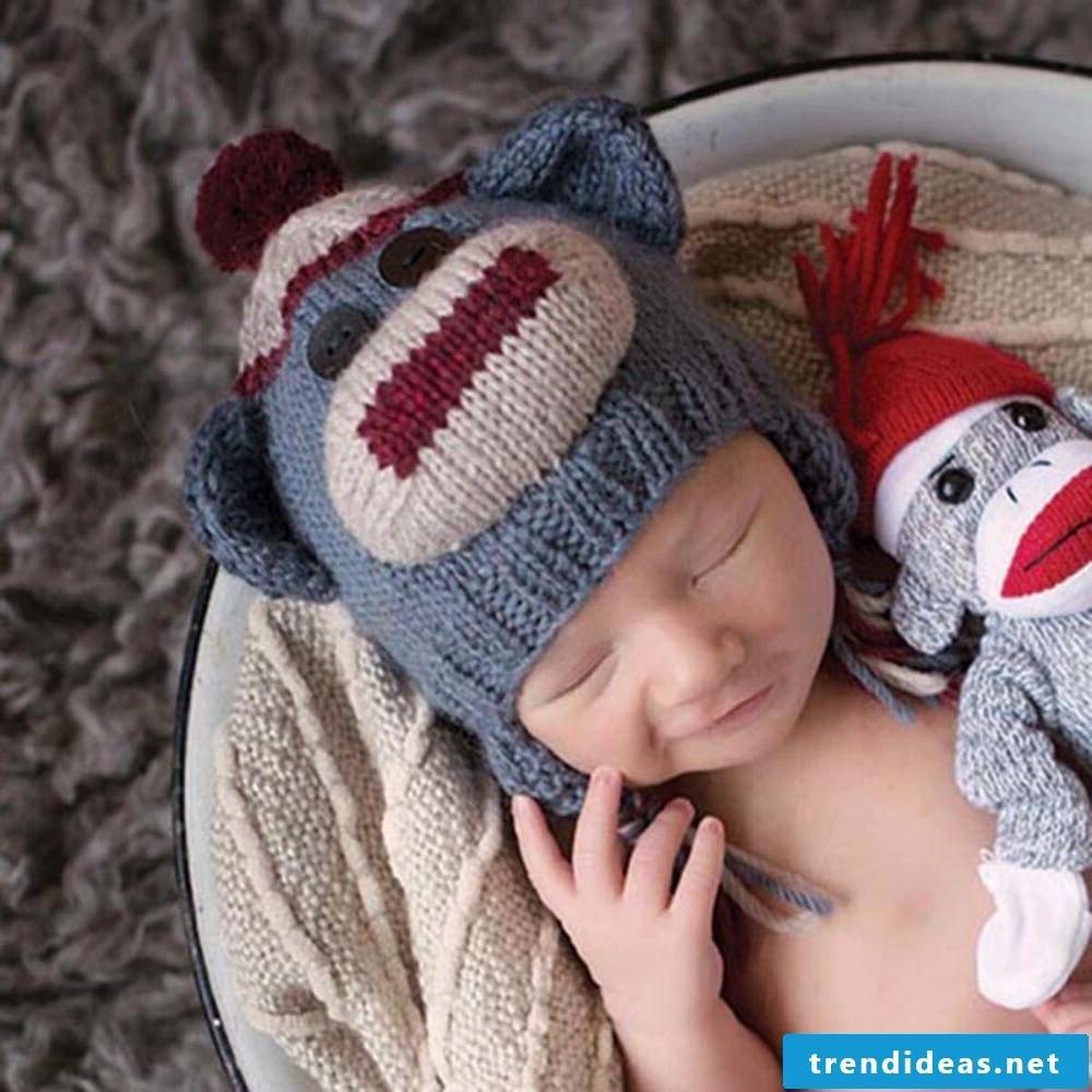 Knitted hat for the little ones.