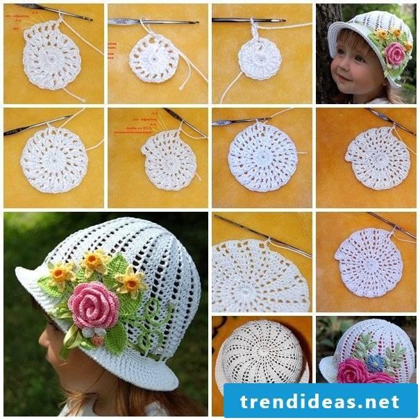 Crochet your child a cute summer hat