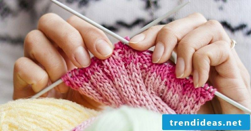 Knitting for beginners to learn the most important basic techniques