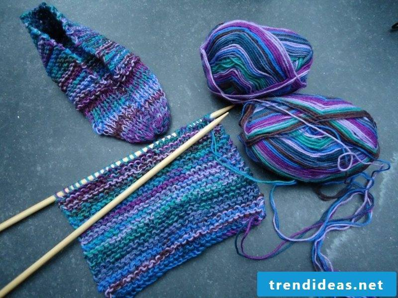 Knitting for beginners Knit socks yourself
