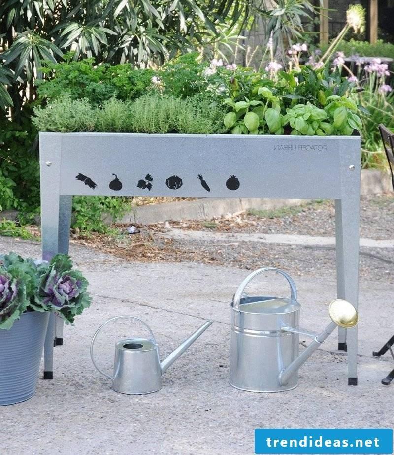 watering krauterhochbeet many times