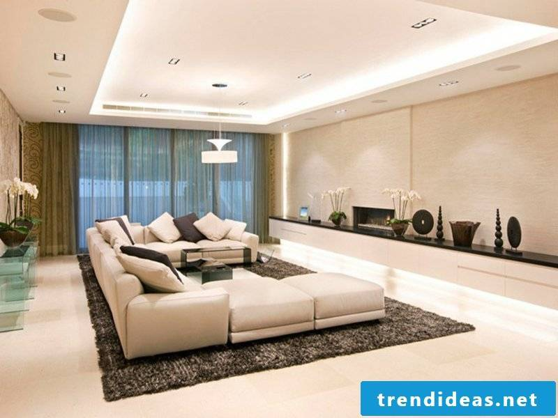 modern indirect lighting in the living room