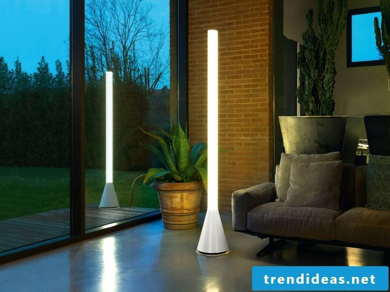 Modern floor lamp in the living room furniture