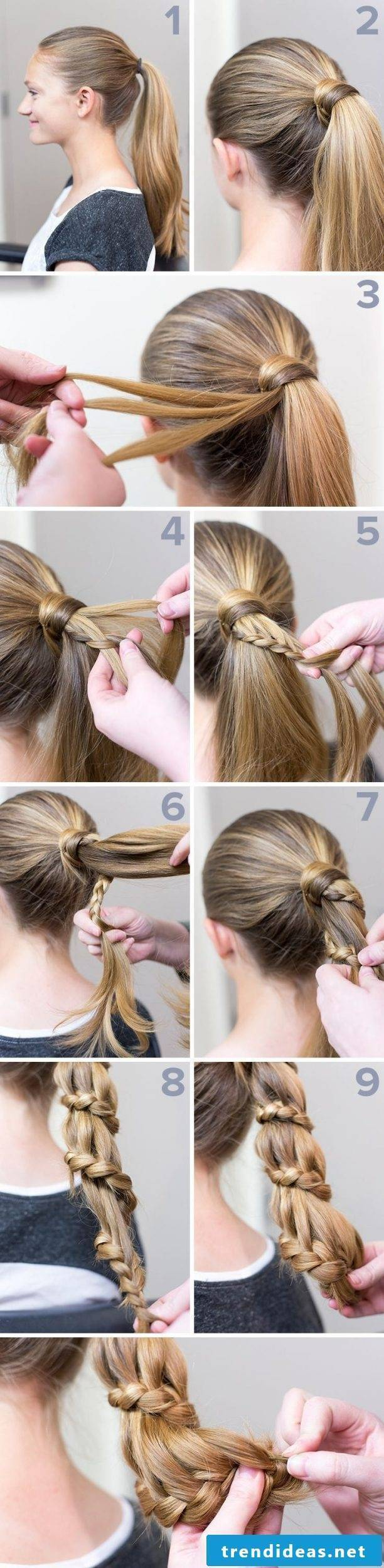 braiding hairstyle instructions to make yourself with pictures