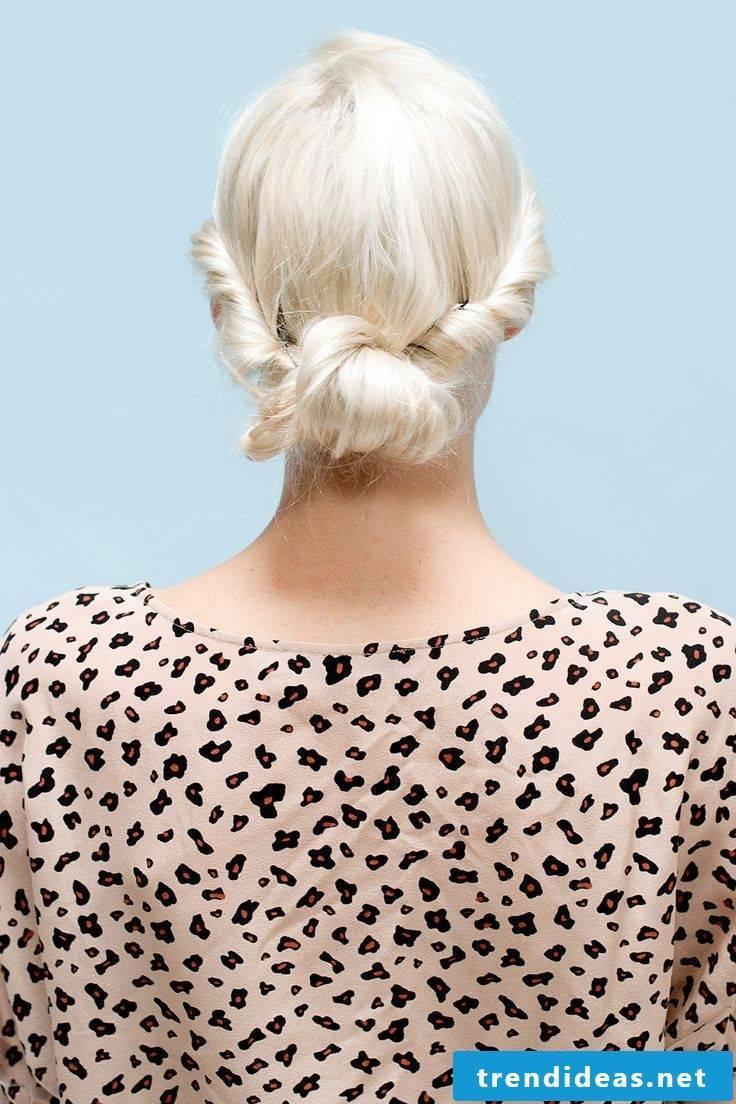 Updos medium-length hair