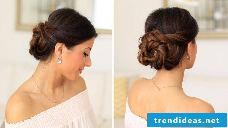 Updos Hairstyling instructions for long hair