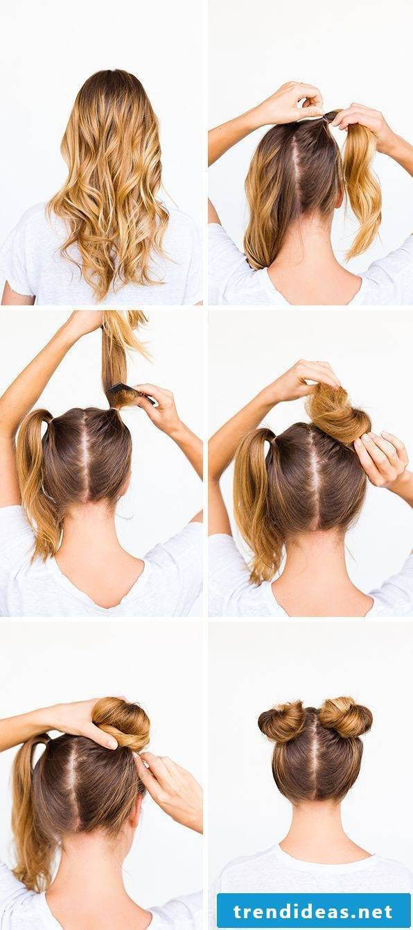 Fast hairstyles for making your own