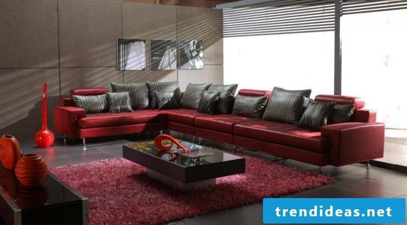 Luxurious leather furniture in the living room!