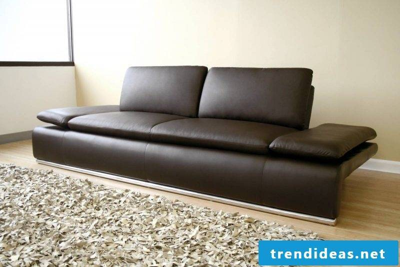Unique leather sofa in brown!