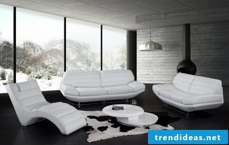 White leather seating!