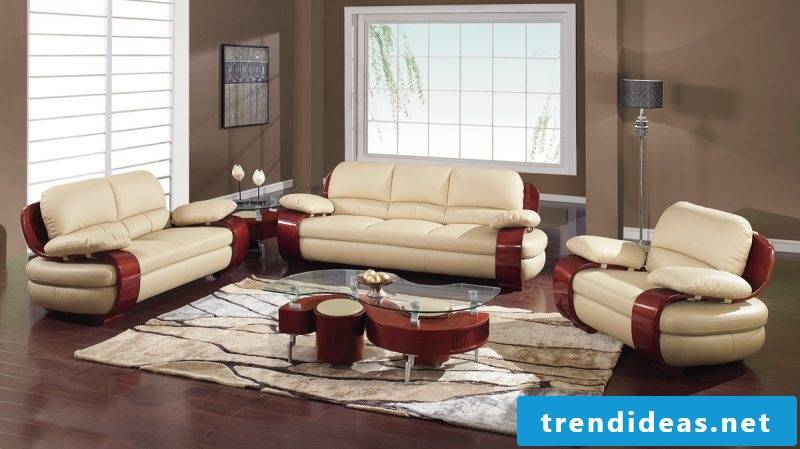 Register modern leather furniture in the interior!