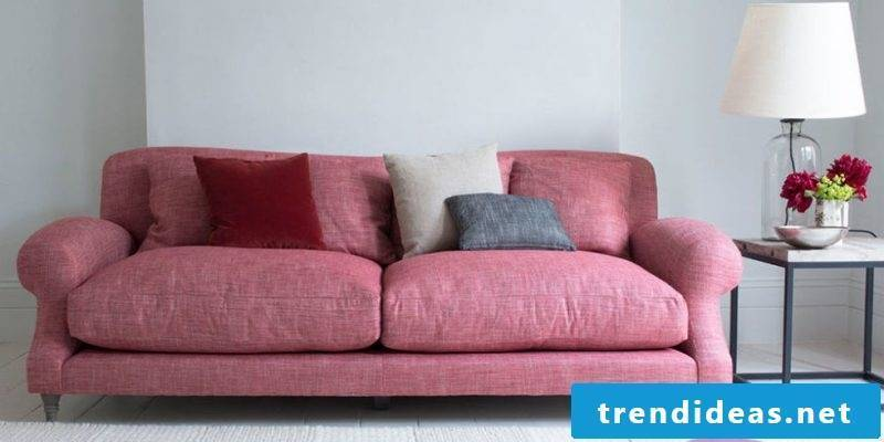 A pink leather sofa!