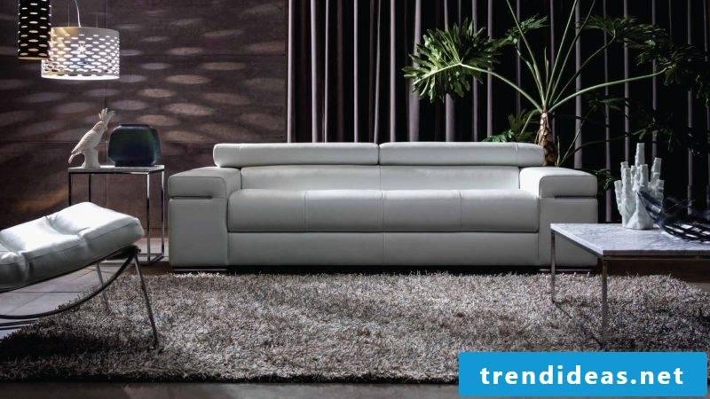 Design the apartment with elegant white leather sofa!