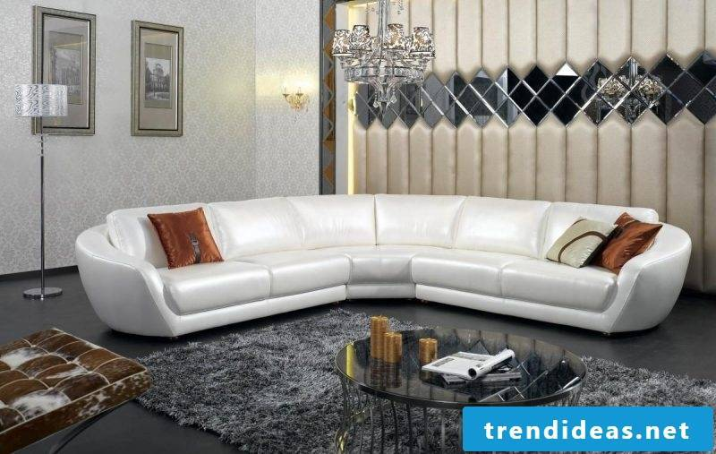 Leather sofa in white!