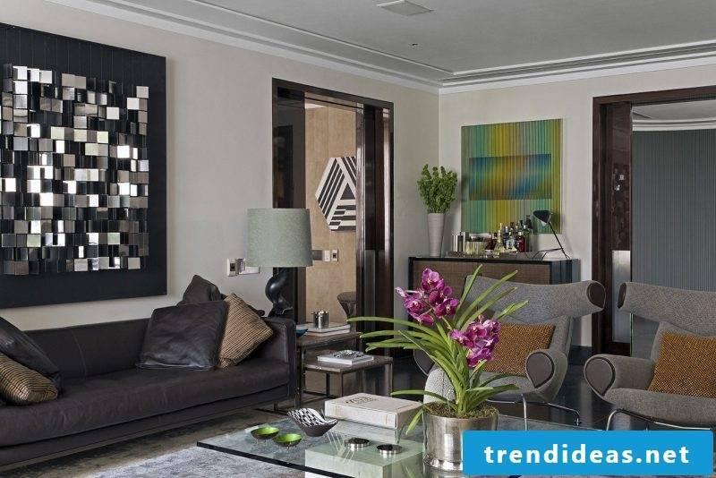 Inscribe leather furniture into the interior design!