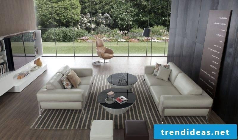 White leather furniture!