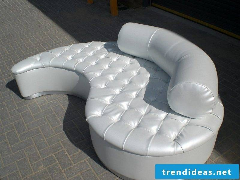 Trendy leather sofa at home!