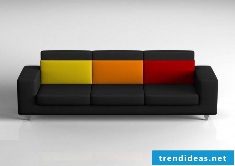 A colorful leather sofa!