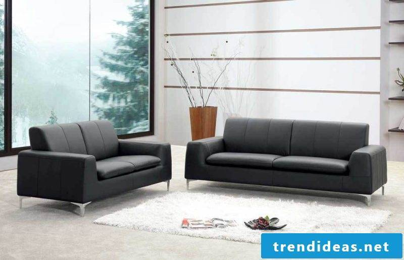 Leather furniture in black for your living room!