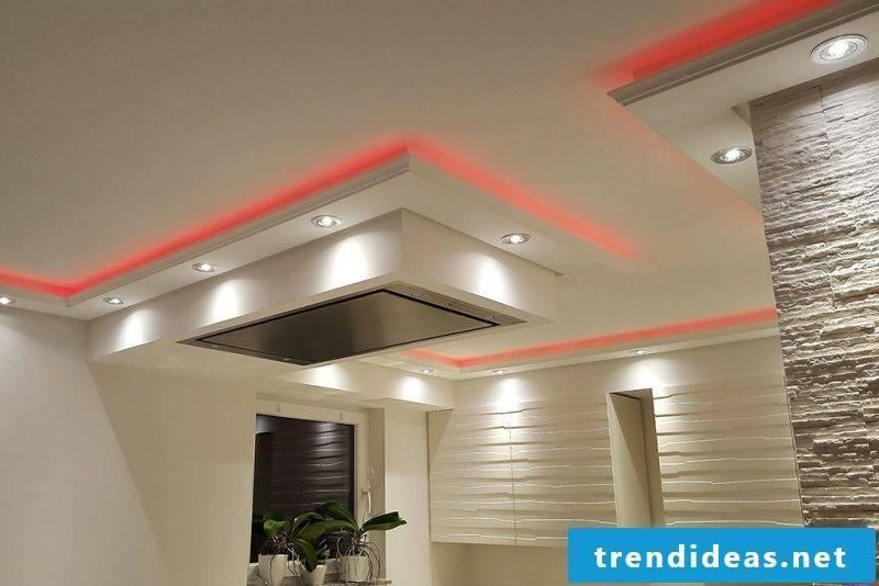 led indirect lighting red