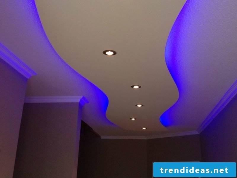 LED indirect lighting blue