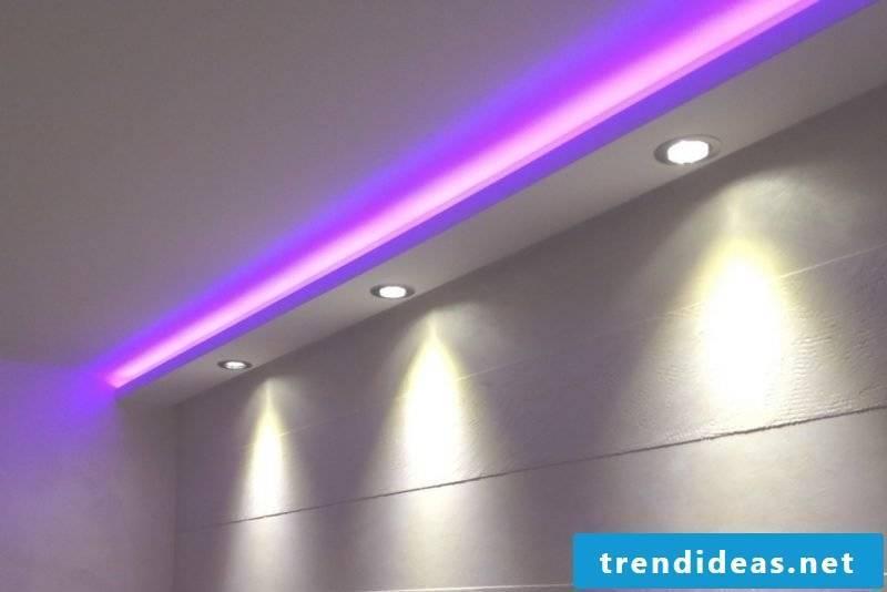 led indirect lighting purple