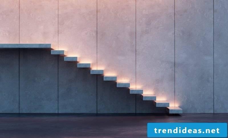 led staircase lighting modern