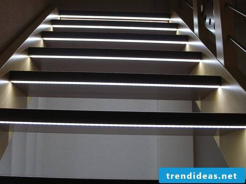 led staircase lighting different