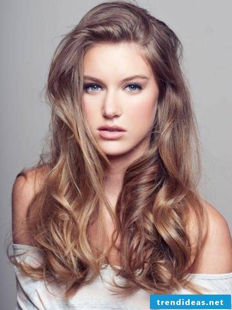 Light brown hair color palette