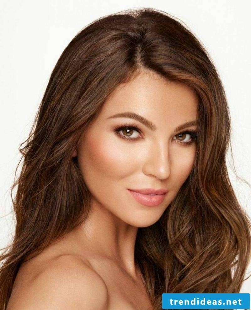 Light brown hair color Nuance nougat modern