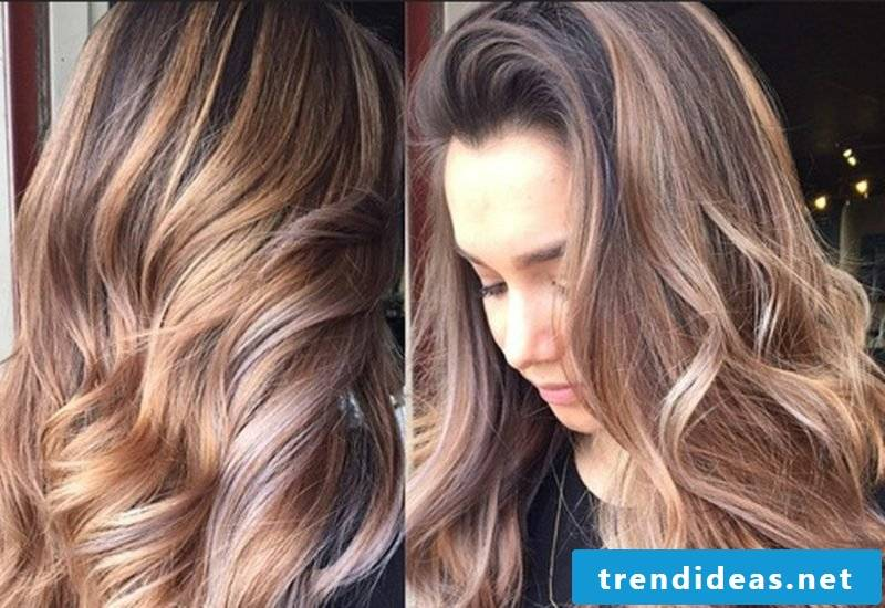 Light brown hair color Palette curly hair volume