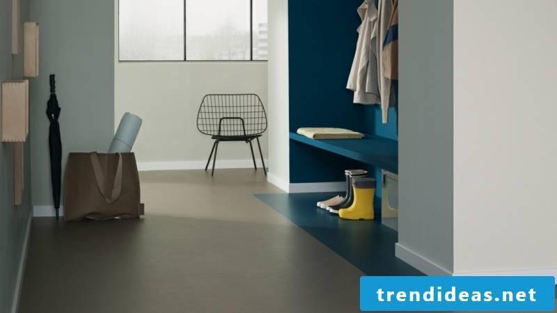linoleum floor dark blue
