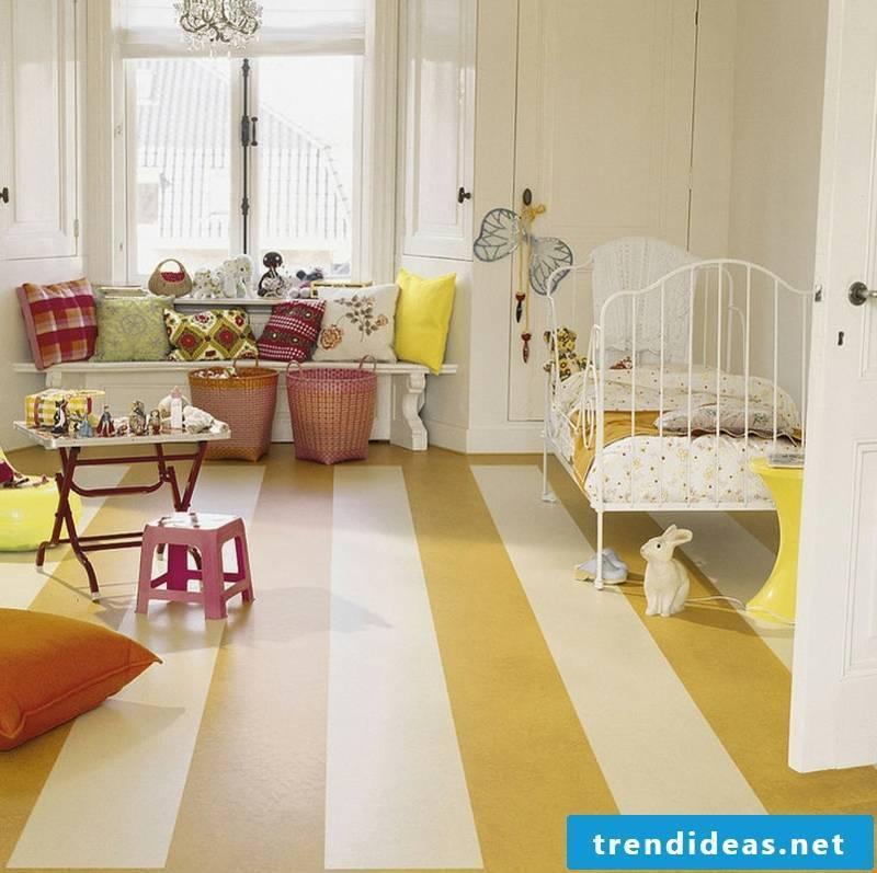 linoleum floor kids room yellow