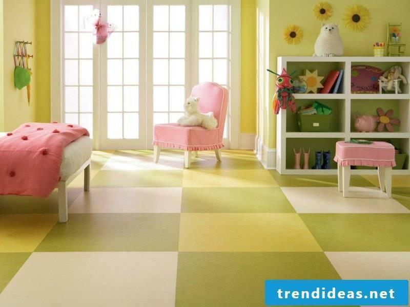 linoleum floor nursery green