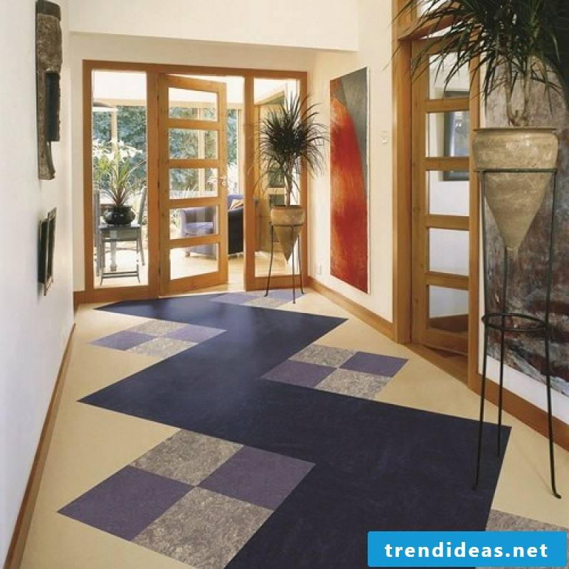 linoleum floor blue beige