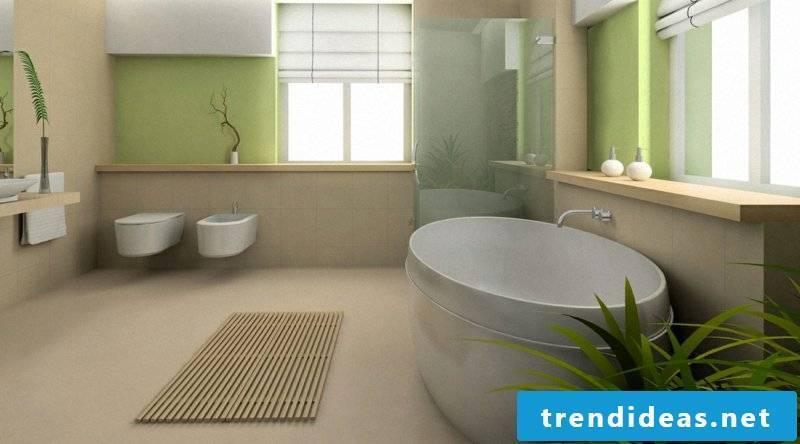Bathroom linoleum floor
