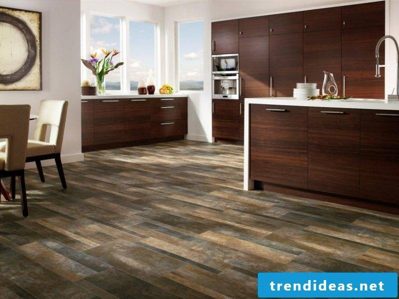 linoleum wood look aesthetically