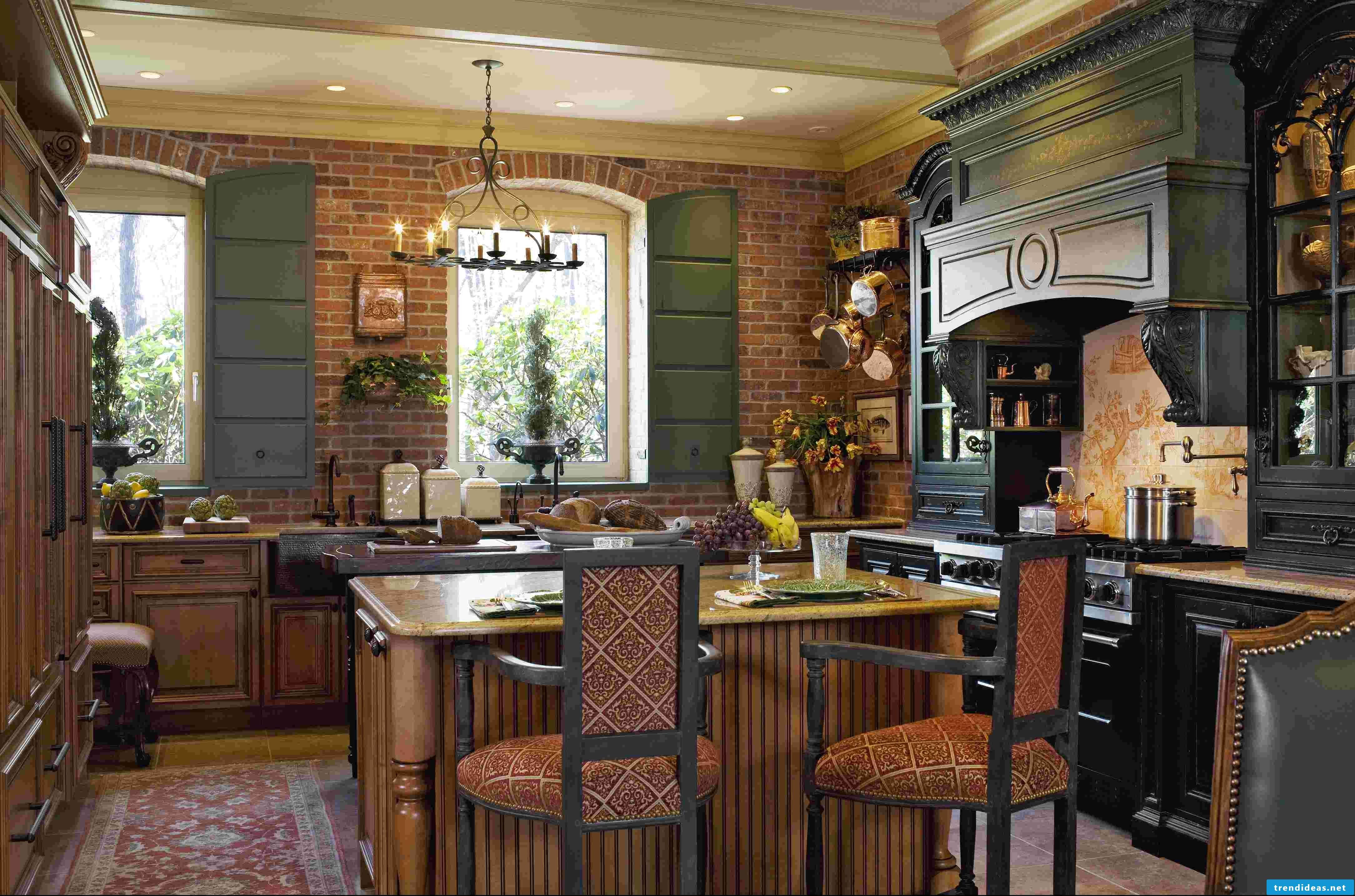 Residential ideas for brick in the provence kitchen